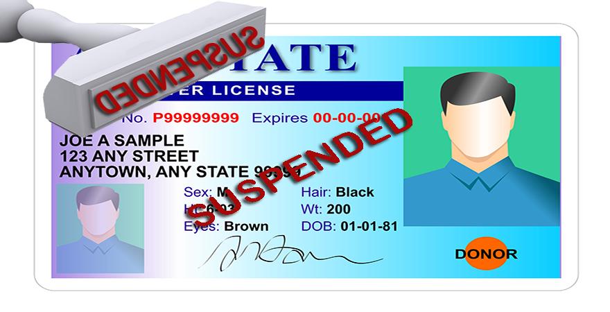 Driving license suspension