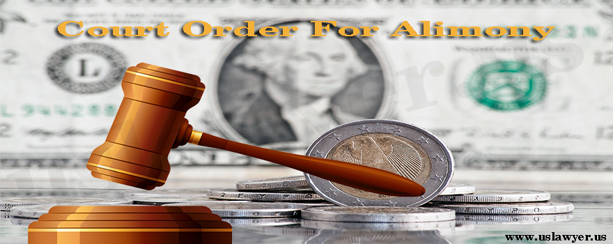 Court Order For Alimony
