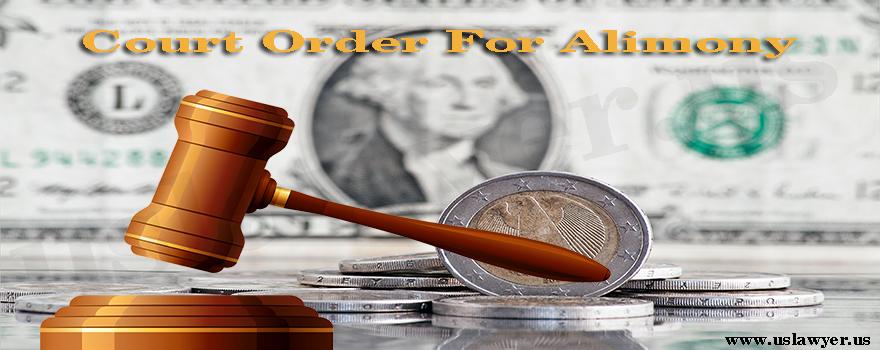 Court Order For Alimony