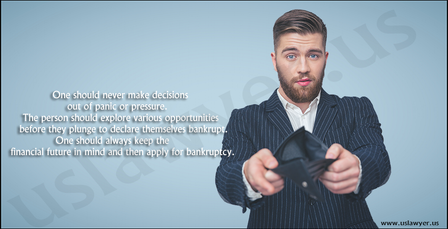 Declaring yourself Bankrupt. Good or Bad!