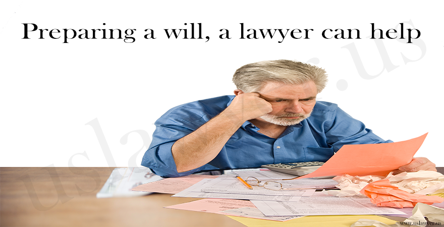 preparing a will, a lawyer can help