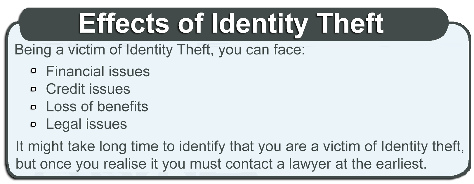 Effects of identity theft
