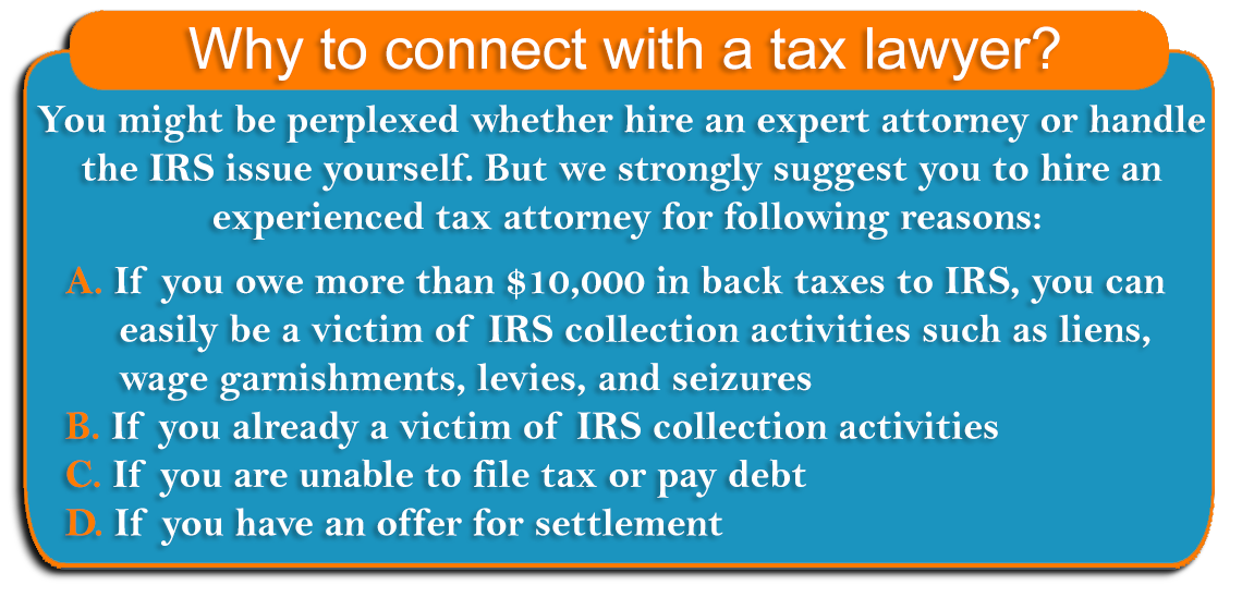 Why to connect with a tax lawyer