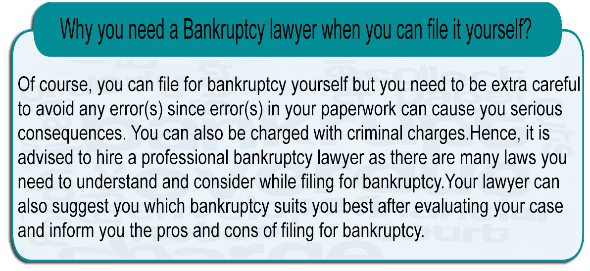 Bankruptcy lawyer when you can file it yourself?