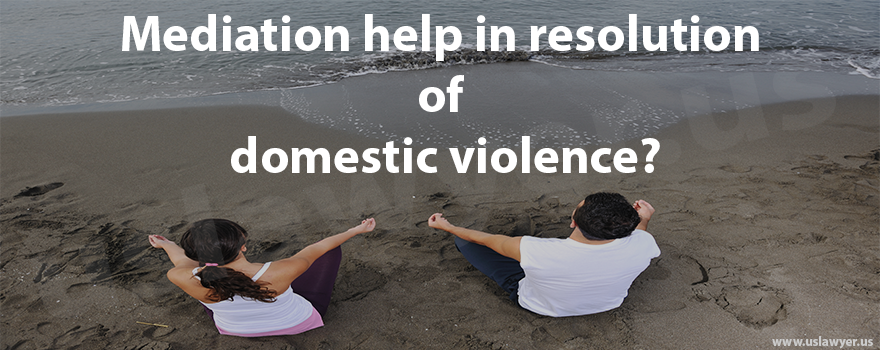 mediation help in resolution of domestic violence