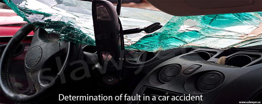 Determination of fault during an accident